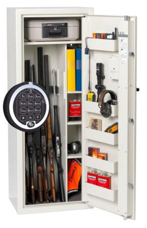 Vapenskåp S 1500 Premium Elkodlås och brandbox