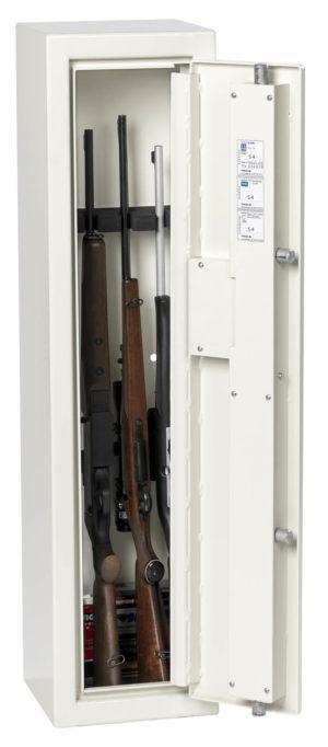 Vapenskåp S4 med plats för 4 vapen