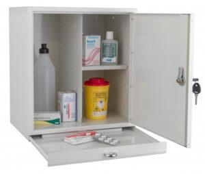 TM 3 Medicinskåp med utdragbar avlastningshylla